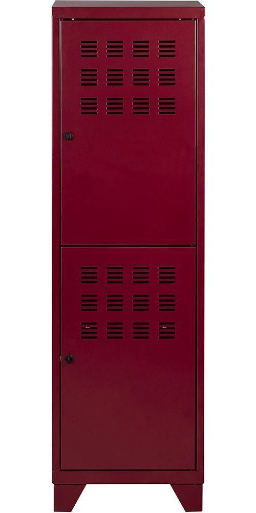 Pierre Henry - Vestiaire 2 portes avec serrures à loquet Rouge rubis nacré