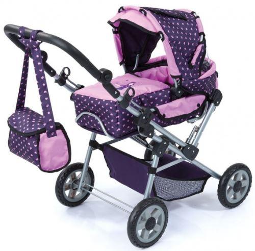 Bayer voiture poupée Trendsetter violet / rose 80 cm