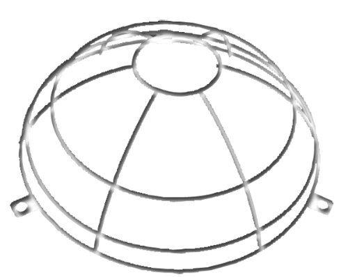 Grille de protection pour détecteur de fumée