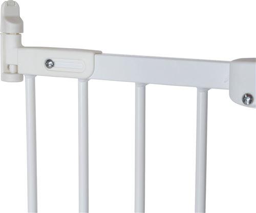 Barrière sécurité métal Flexi Fit, blanc