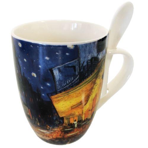 Mug cuillère VAN GOGH - Terrasse du Café le Soir