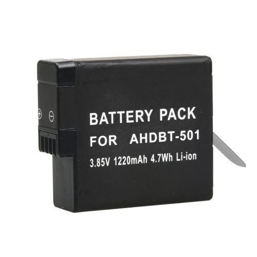 Accessoires Gopro Batterie et Chargeur Pour GoPro HERO5 3.85V 1220mAh 4.7Wh Batterie Li-ion