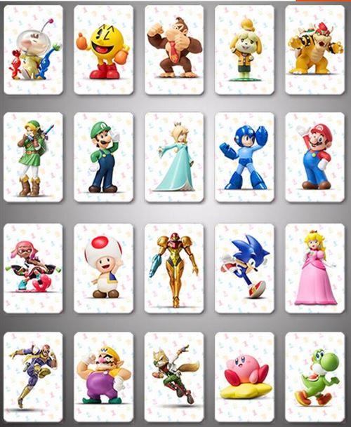 PRODUIT GENERIQUE: Amiibo Carte pour Mario Kart 8 Deluxe Jeux- 20 pcs Amiibo NFC Tag Cartes Cadeaux