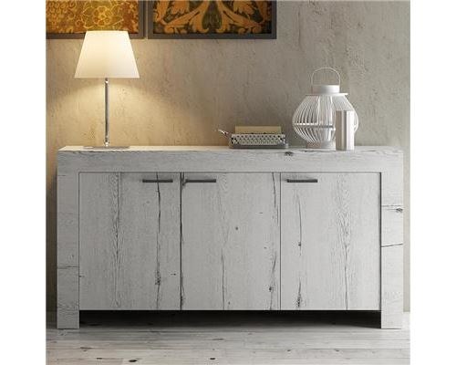 Buffet contemporain couleur chêne blanchi ROMANE 2
