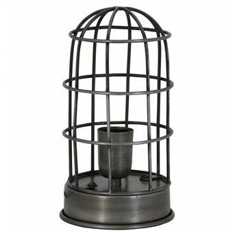 Patiné Ampoule Deco Cage 14x25cm Etain Carandira Du 1 Lampe À Poser Fer Temps L'héritier Electrique Oiseau Eclairage En Façon Luminaire erBoWxdC
