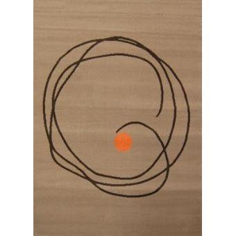 Tapis Moderne Tapis Cercle Marron Et Orange   Taille 80 X 150 Cm   Achat U0026  Prix | Fnac
