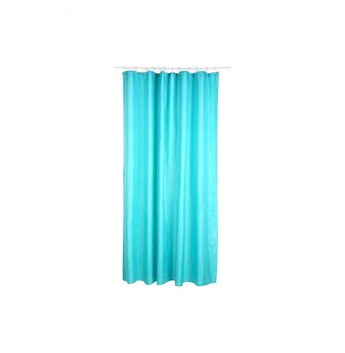 Rideau de douche - Polyester - 180 x 200 cm - Bleu turquoise