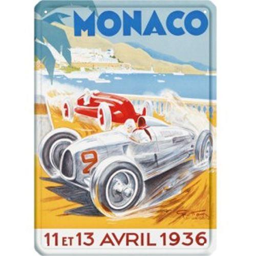 Grande plaque métal Monaco