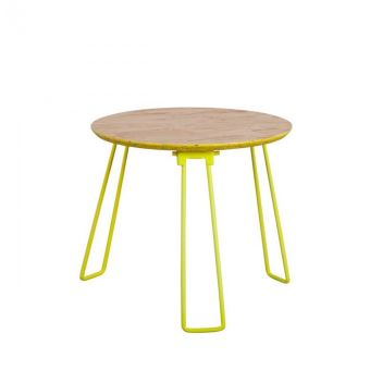 Table Basse Métal Fluo Osb Medium Zuiver Couleur Jaune Achat