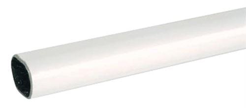 Tube ovale gainé blanc 30 x 15 mm DUVAL BILCOCQ - 2.50 m - 51-1031-0125