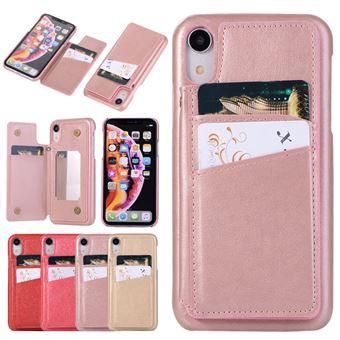 coque iphone xr miroir or rose