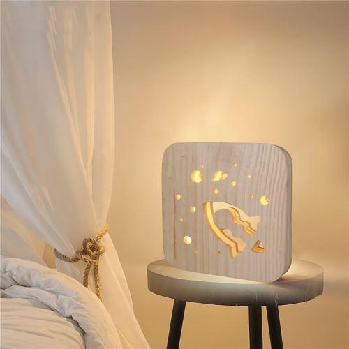 Creative Craft Décoration Lampe en bois Led Lumière Veilleuse Lampe de table wedazano438