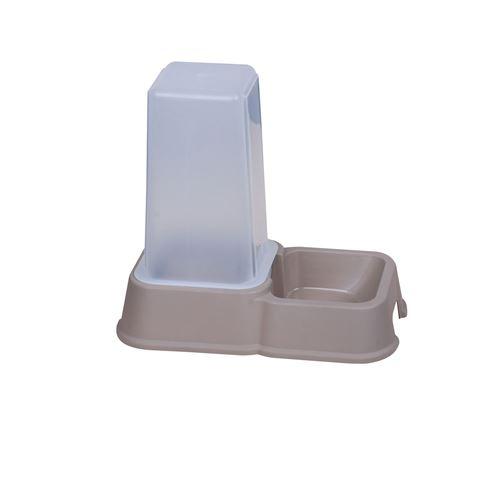 Dogi - Distributeur de croquettes - 1,5 L - Gris