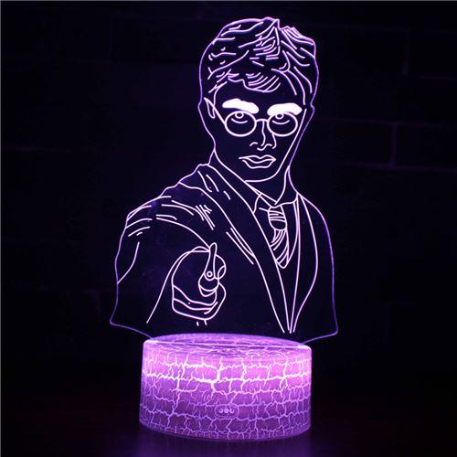Lampe 3D Tactile Veilleuses Enfant 7 Couleurs avec Telecommande - Harry potter #253