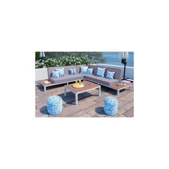 Loungitude Salon De Jardin Avec Canape Dangle 5 Places En Aluminium