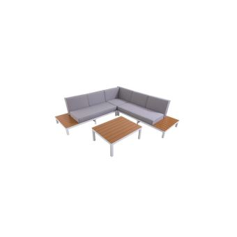 Loungitude salon de jardin avec canape dangle 5 places en aluminium
