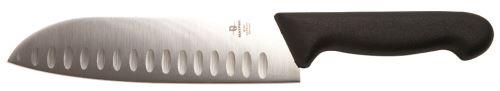 Couteau santoku m. Noir 180mm-mt182187