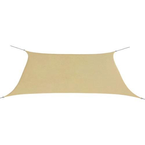 Parasol de jardin en tissu Oxford rectangulaire 2x4m Beige