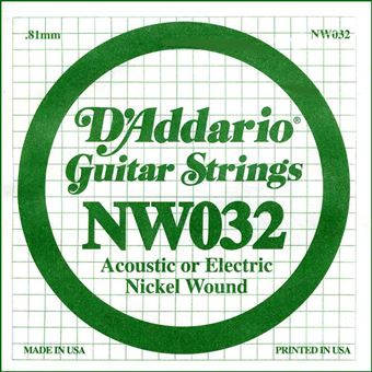 Filet rond NW032 Corde 032 D/'addario guitare électrique