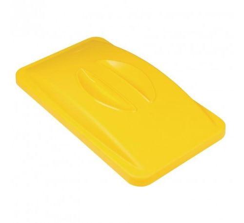 Couvercle jaune à poignée