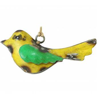 Oiseau à Suspendre Oisillon Décoratif Objet De Décoration Suspendu En Métal  Jaune Et Vert 3x5x10cm   Achat U0026 Prix | Fnac