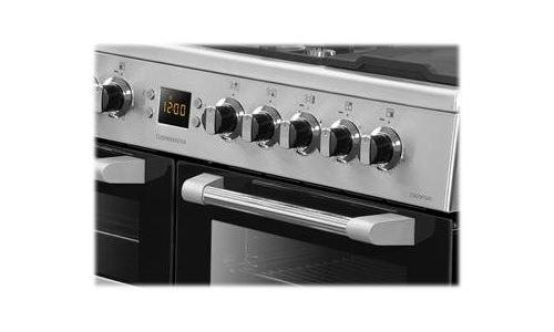 Leisure Cuisinemaster CS100F520X - Cuisinière (triple four) - pose libre - largeur : 100 cm - profondeur : 60 cm - hauteur : 90 cm - avec système auto-nettoyant - acier inoxydable