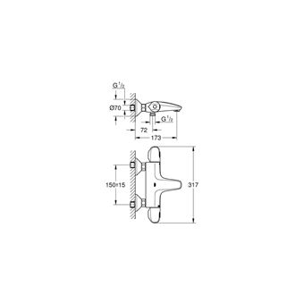 Mitigeur Thermostatique Bain Douche Grohe Grohtherm 1000 34439003