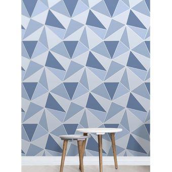 Bleu Papier Peint Geometrique De L Apex Decors Et Stickers Achat