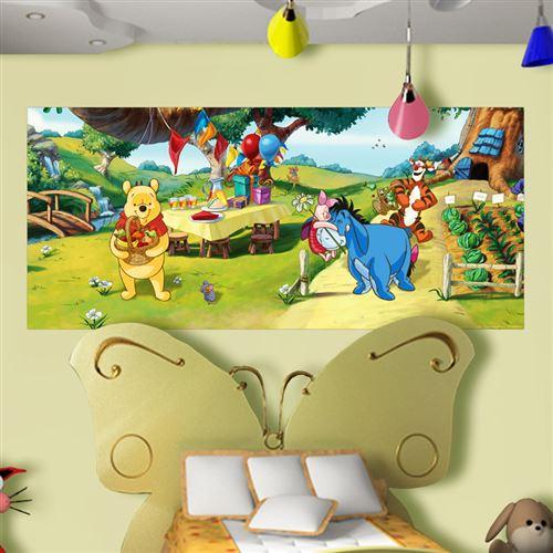 Poster géant Winnie l'Ourson Anniversaire Disney intisse 202X90 CM