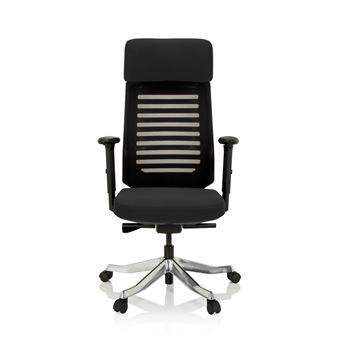 Chaise De Bureau ASGON Tissu Noir Hjh OFFICE