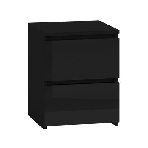 ASTER T2 - Table de chevet moderne chambre - 40x30x30 cm - Table Noir