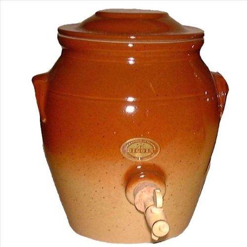 Vinaigrier châtaigne en grès 6,7 l digoin ceramiques pvr07ch