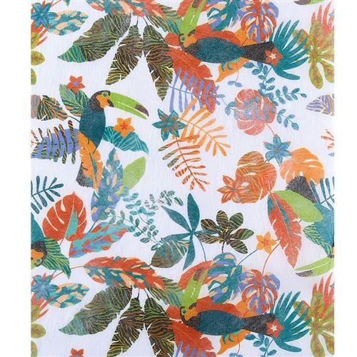 chemin de table tropical fleurs exotique