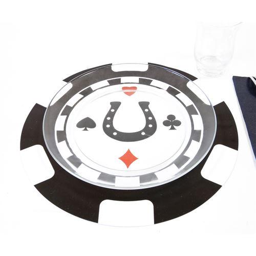 20 Sets de table thème jeton de casino - Diam : 30 cm