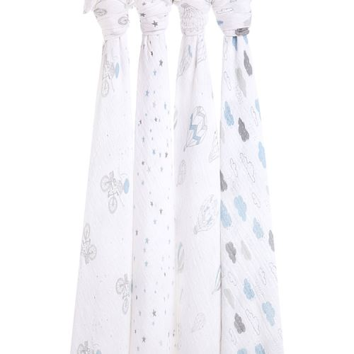 Coffret 4 Maxi langes coton NIGHT SKY REVERIE aden + anais
