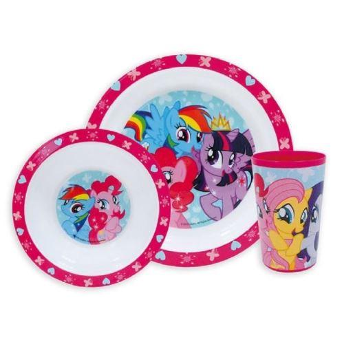 My little pony ensemble lunch assiette - verre - bol fun house 005333