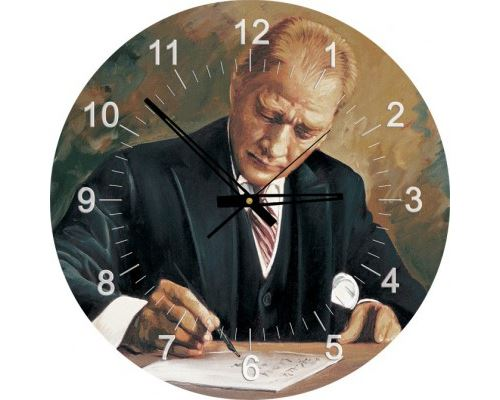 Puzzle 570 Pièces : Puzzle Horloge - Ghazi Mustafa Kemal Atatürk travaillant (Pile non fournie), Art Puzzle