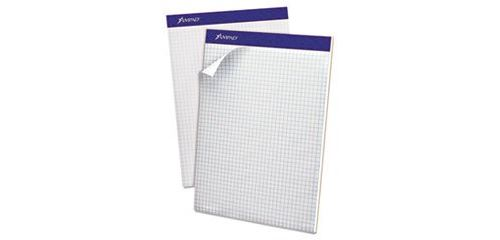 Esselte Pendaflex Corp. 20210 Double Sheet Quad Pad, 4 Sq. Per Inch Rule, Letter, White, Perfed, 100-Sheet Pad