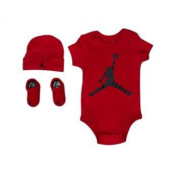 vente en ligne grande vente emballage élégant et robuste set Body chausson et bavoir Jordan Aj Classic rouge pour ...