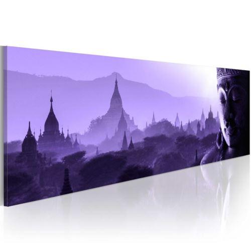 Tableau - Purple Zen .Taille : 150x50