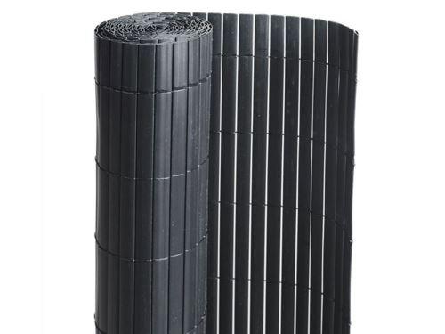 Canisse PVC double face Noir 18 m - 6 rouleaux de 3 x 1 m - Jardideco