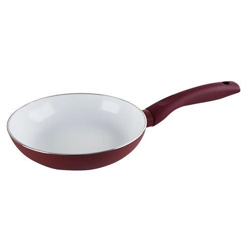 Pôele de cuisson céramique anti-adhésive - tous feux dont induction - 18 cm - Thebe Granate