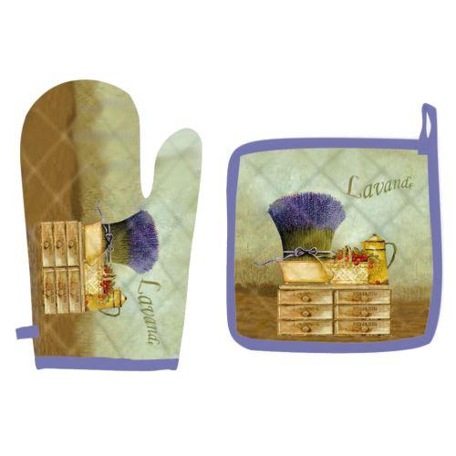 Ensemble gant et manique - Lavande