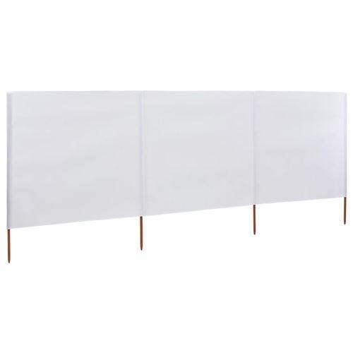 vidaXL Paravent 3 panneaux Tissu 400 x 120 cm Blanc
