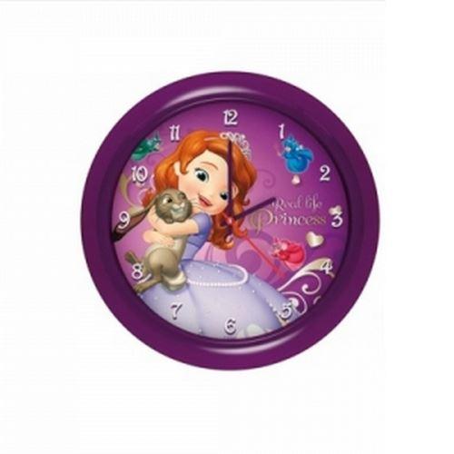 Horloge murale Princesse Sofia montre violet