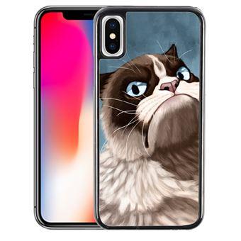 Coque pour iPhone X grumpy cat
