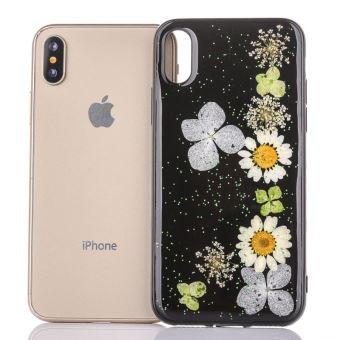 coque iphone x fleurs sechees