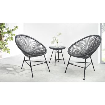 BOBOCHIC Pinto - Salon de jardin 2 places - design oeuf ...