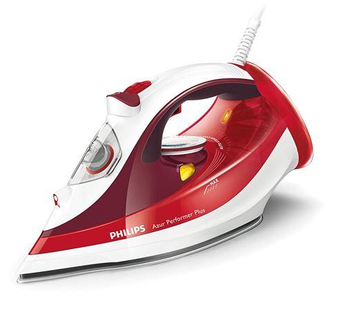 Philips Azur Performer Plus GC4516/40 Fer à repasser à vapeur 2400 W Rouge/blanc