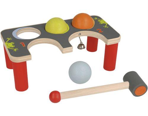 Selecta Spielzeug banc de marteau à crochet junior 22 x 11 cm en bois 5 pièces